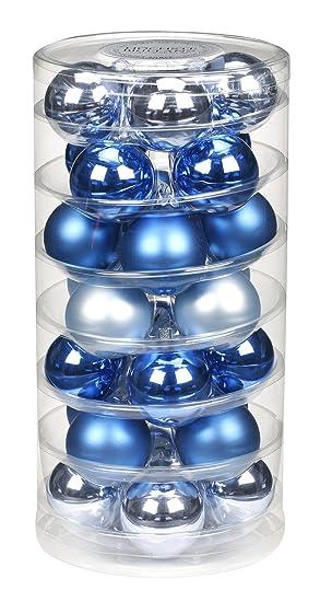 Durchmesser /Ø 4,0 cm 100 Aufh/änger IngeGlas 30 Christbaumkugeln aus Glas inkl Brokatgold Glanz//Matt Weihnachtskugeln f/ür Tannenbaum
