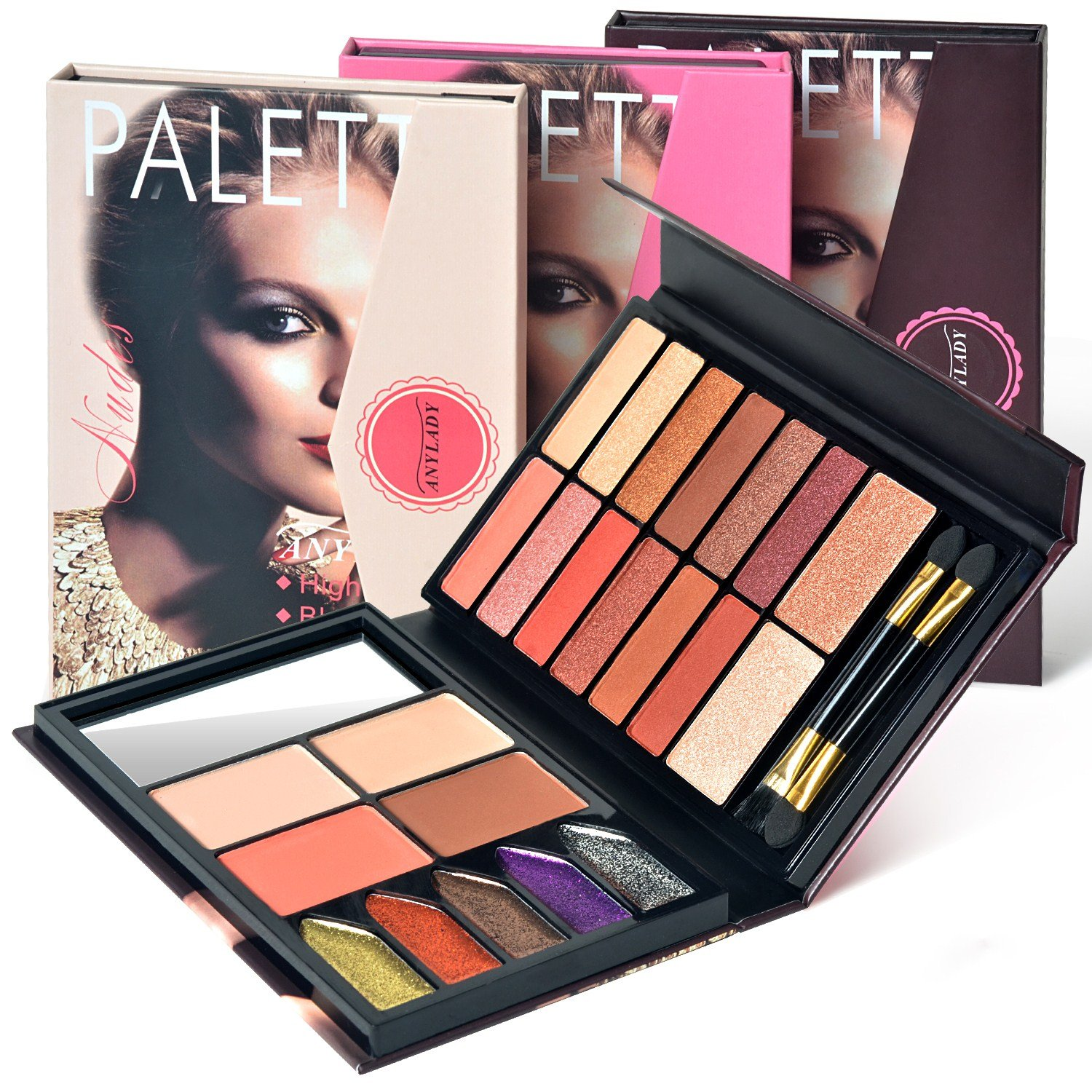 Eye Shadow Palette,Shimmer and Matte Eye Shadow with Blush, Contour and Lip Palette, Makeup Kit Set 23 Colors Imanom