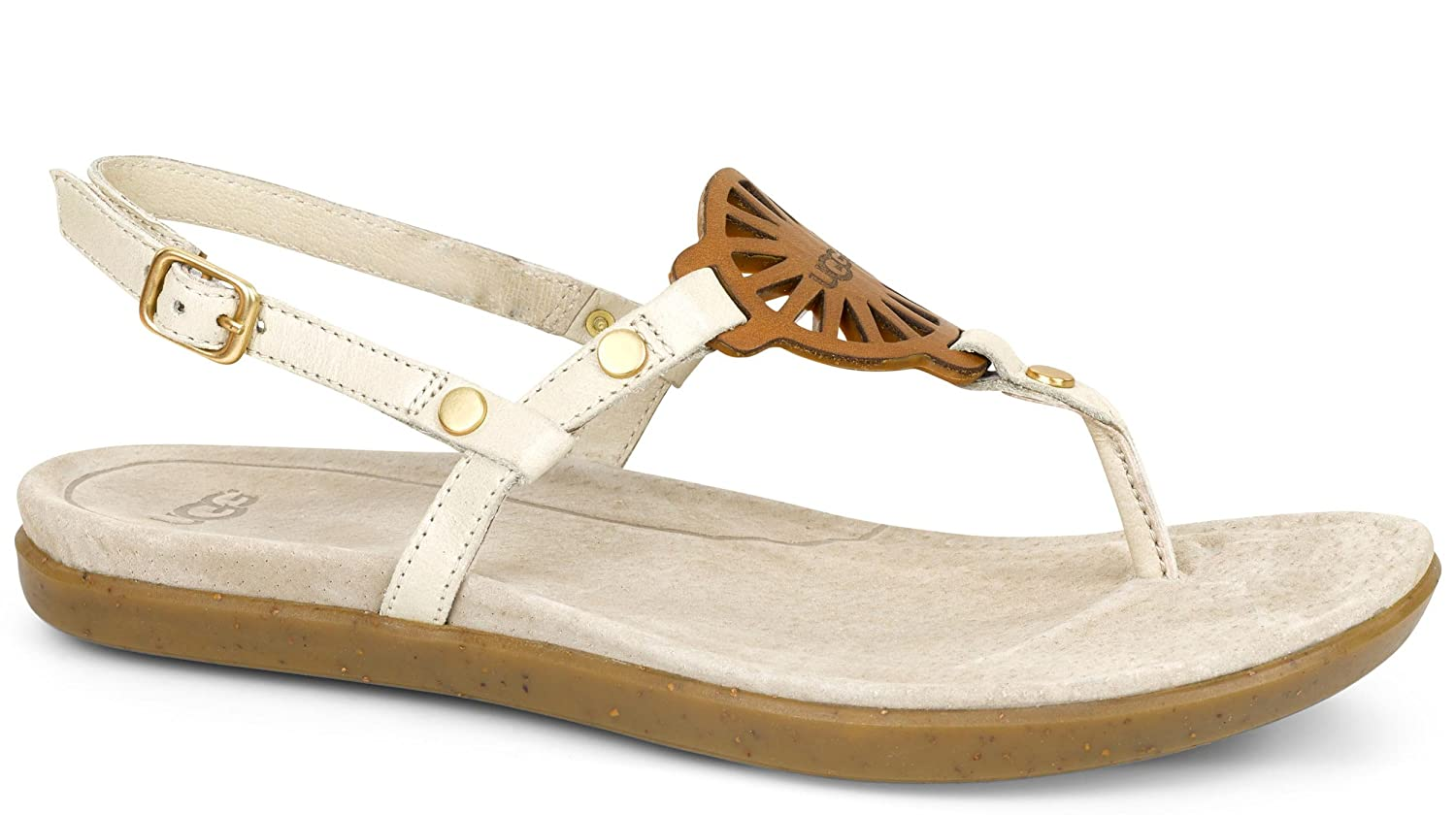 5179be76d2e UGG Women's Ayden Seagull Leather Sandal 7 B (M): Amazon.com.au: Fashion