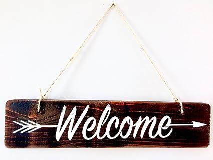 Welcome Sign For Front Door Welcome Door Sign Wreath Welcome Sign Pallet Wood  sc 1 st  Amazon.com & Amazon.com: Welcome Sign For Front Door Welcome Door Sign Wreath ...
