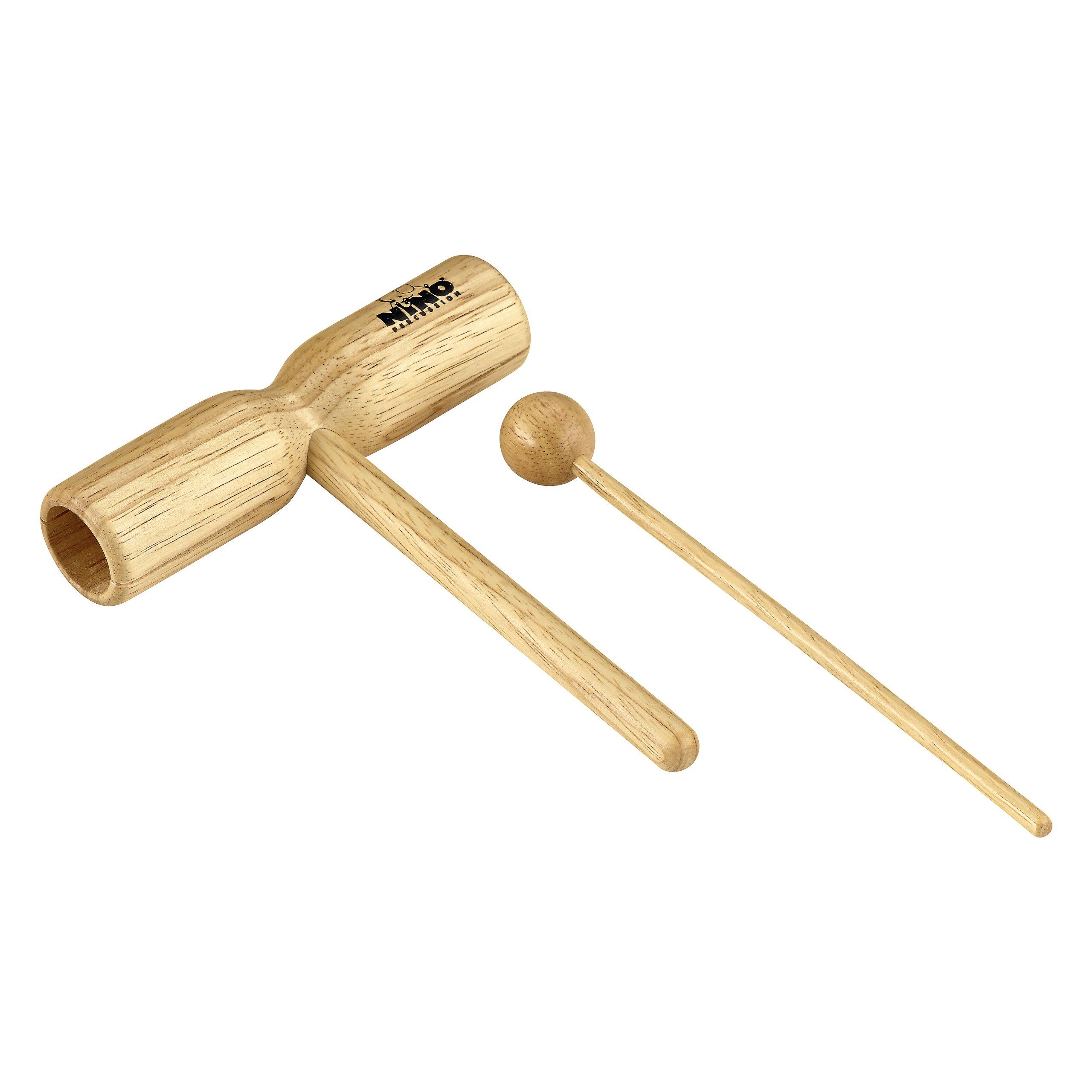 Nino Percussion NINO570 Small Wood Tone Block, Natural Finish by Nino Percussion