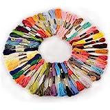 50 échevettes de Fil pour broderie point de croix tricotage corchet multicolores