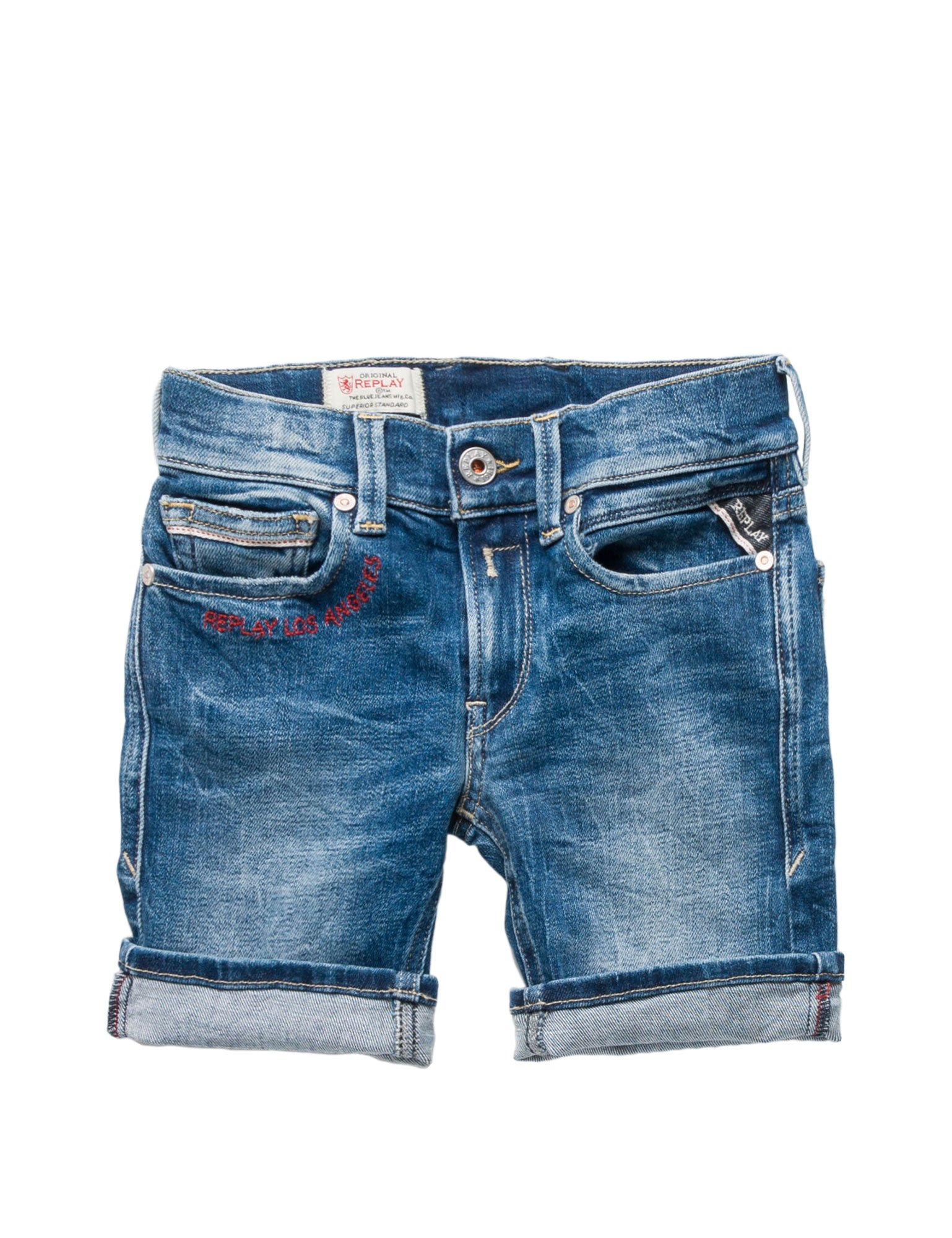 Replay Regular Fit Boy's Denim Shorts In Size 10 Years Blue
