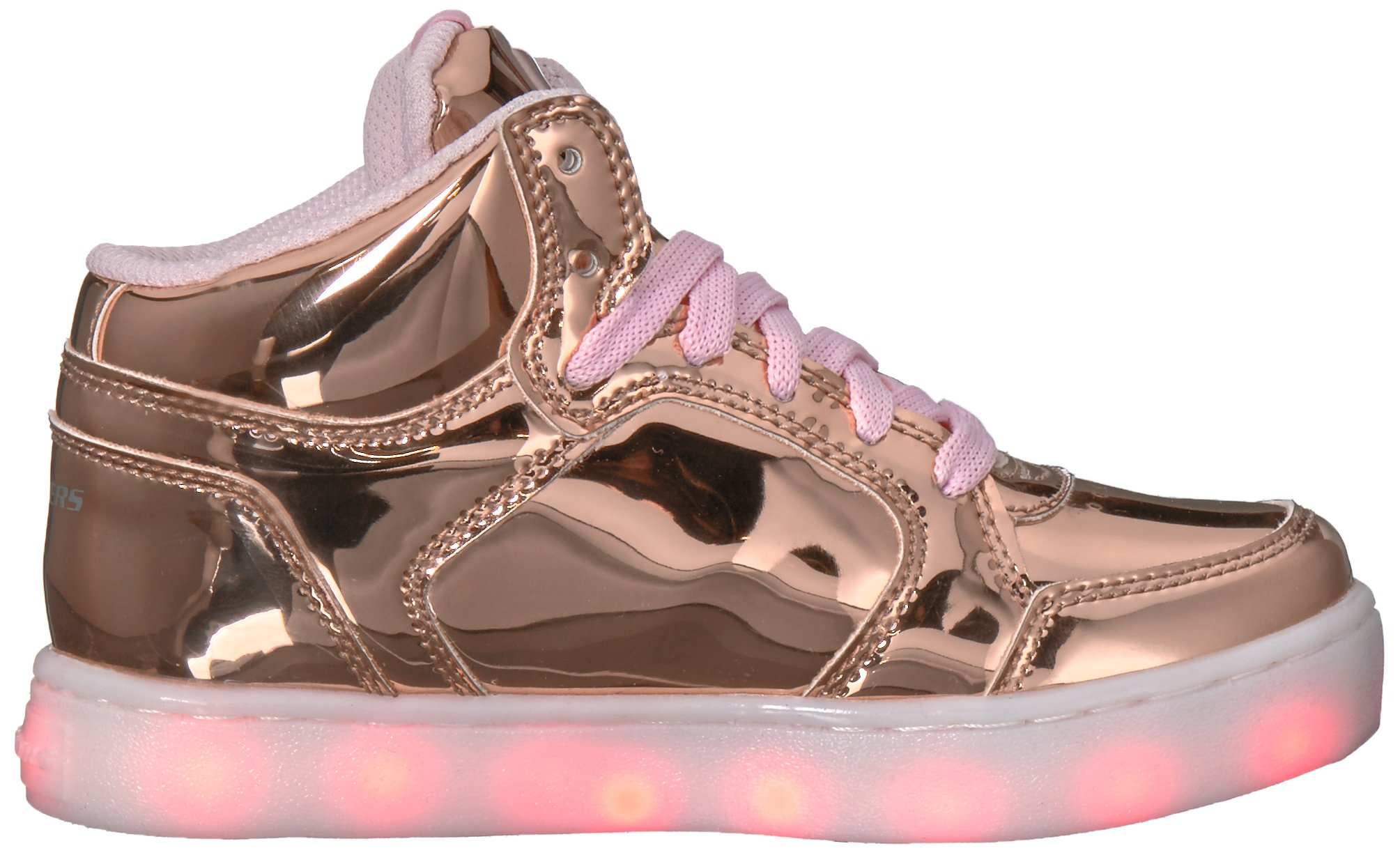 Skechers Kids Energy Lights-Dance-N-Dazzle Sneaker,Rose Gold,1 M US Little Kid by Skechers (Image #7)