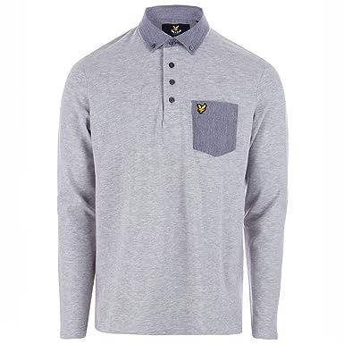 Lyle & Scott Woven Collar, Polo para Hombre, Gris (Light Grey Marl ...