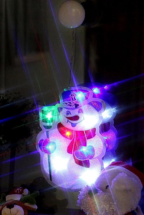 Fensterlicht Weihnachten.Kamaca Led Fensterbild Schneemann Fensterlicht Fenstersilhouette Mit Saugnapf Zur Einfachen Befestigung Dekoration Fur Herbst Winter Advent