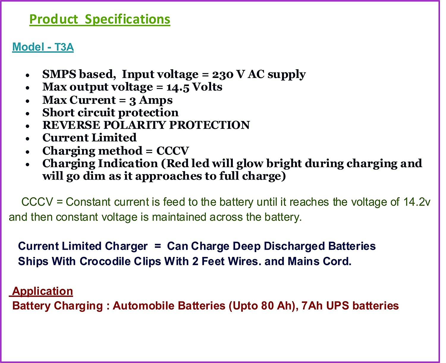 Digitronix Abs Plastic Battery Charger Smps With Voltmeter 12v Batterycharging Discharging Circuit Used In Laptop Applications Voltage And 3 A Current Blue Car Motorbike