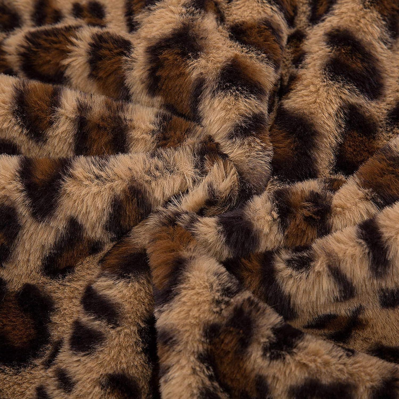 Belle Poque BP944 dise/ño de Leopardo Abrigo de Manga Larga para Mujer
