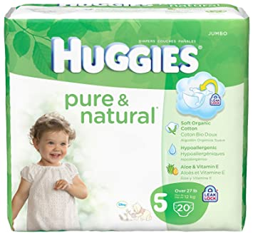 Huggies Pure and Natural Diaper Size 5 - 80 Ct.