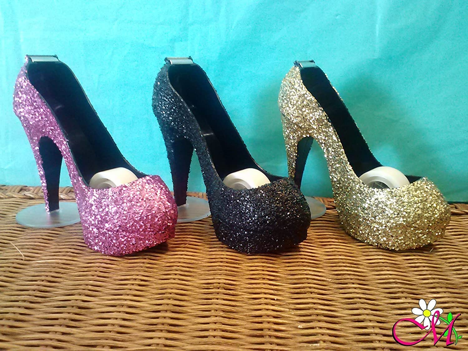 Glitter SCOTCH Stiletto Tape Dispenser, Set of 1, (Your Choice of Color)