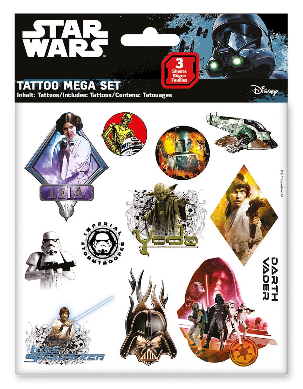 CRAZE 55671 - Tattoo Mega Set Star Wars, 3 Hojas, Colores Surtidos ...