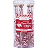 Melvilles Gourmet Hot Beverage Complements Chocolate Peppermint Stirrer 8 Ct