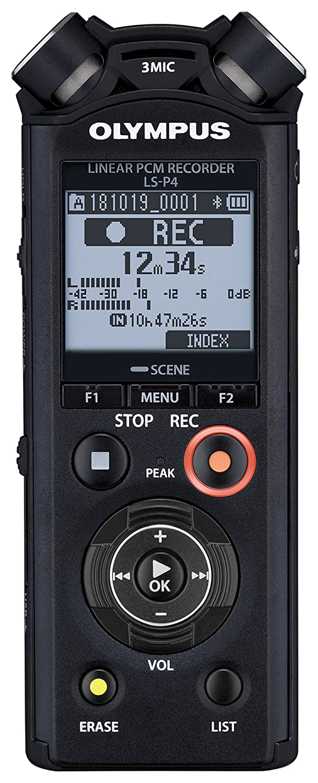 Olympus, LS-P4 PCM e FLAC Musica e Registratore Vocale, Memoria da 8 GB, Slot MicroSD, USB, Bluetooth V409160BE000