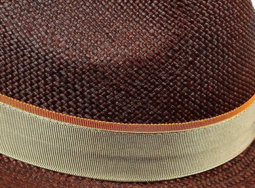 Christys London Mens Genuine Panama Fedora Hat Dark Brown Small