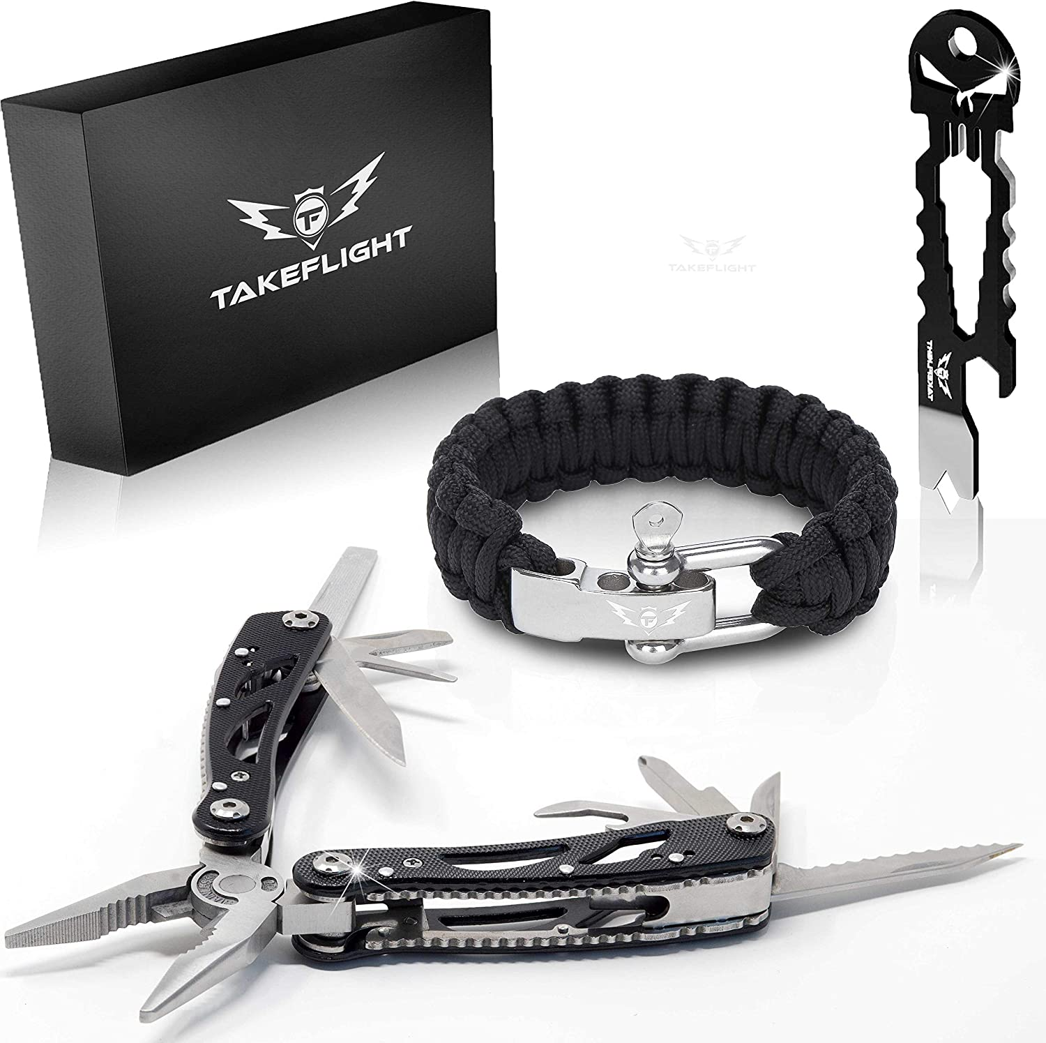 Father's Day Gift for Dad - Multi Tool Survival Gear Kit - Gadgets for Men | EDC Gift Set w/Paracord...