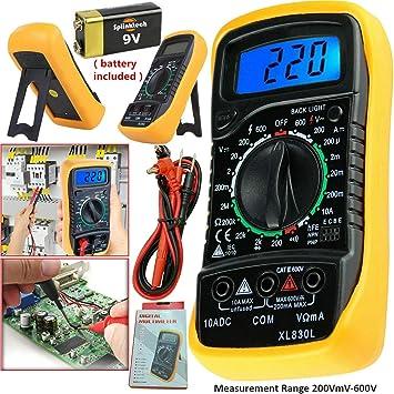 LCD Digital Buzzer Testeur Multimètre Voltmètre Ampèremètre Ohm Ac Dc Circuit de courant