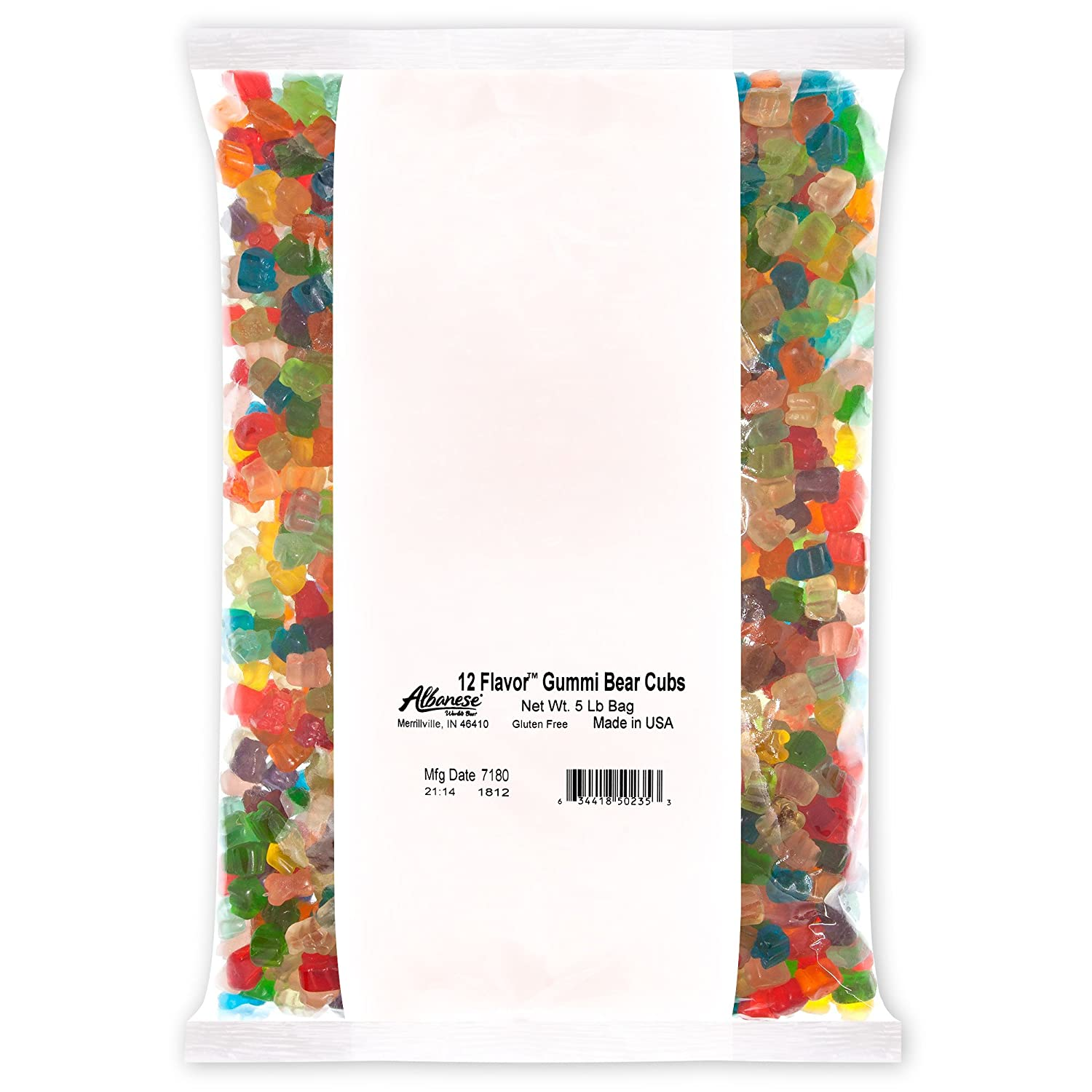 Albanese Candy, 12 Flavor Gummi Bear Cubs, 5-pound Bag