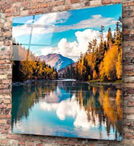 انساين لوحة ديكور من الزجاج ٣٠سم x ٣٠سم , KGLS-1128