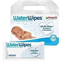 WaterWipes Toallitas para Pieles Sensible de Bebé, 99.9% agua purificada, 60 Unidad (Paquete de 4)