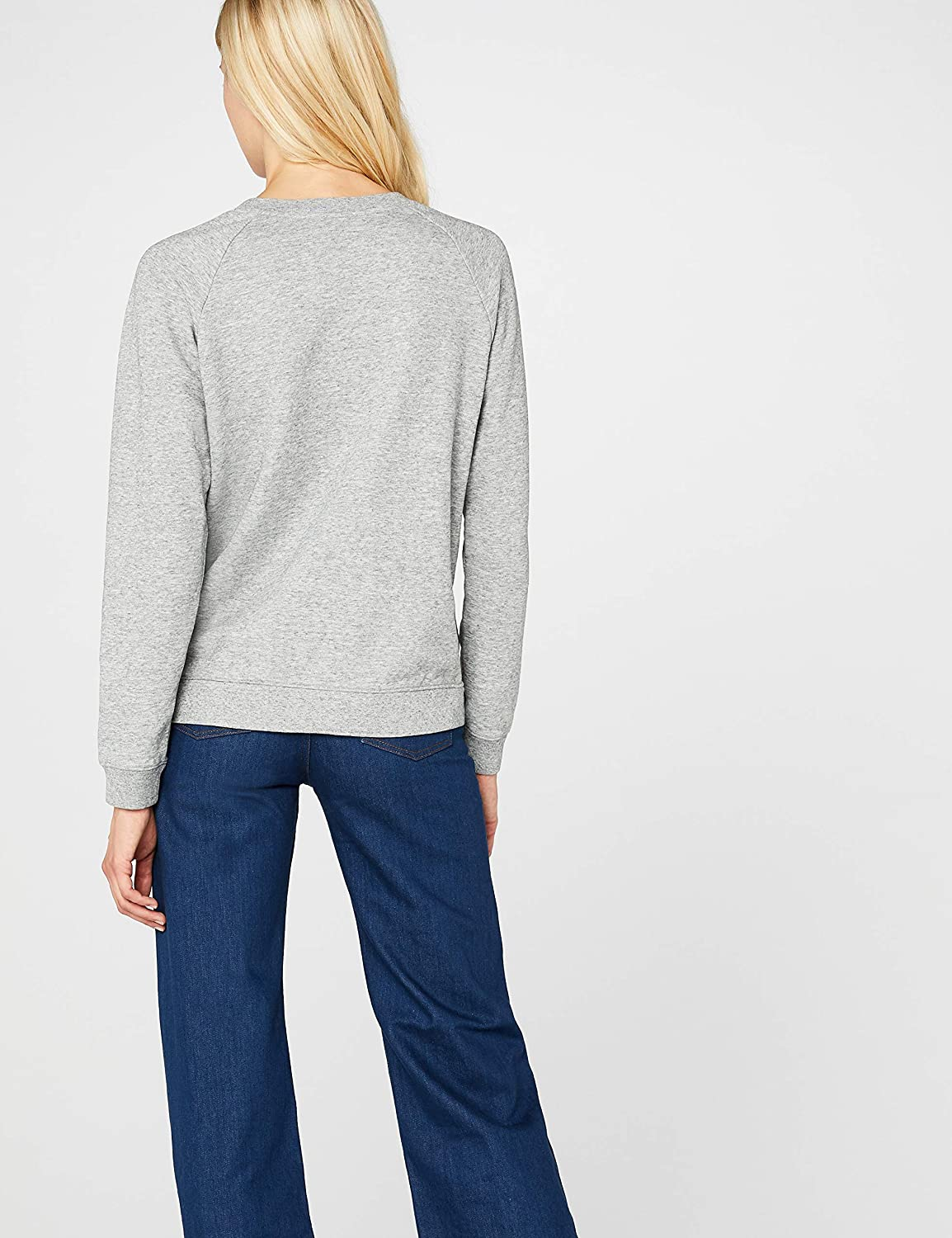Levi's Damen Relaxed Graphic Crew Sweatshirt Grau (Fleece Batwing Smokestack Htr 0000)