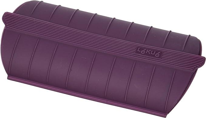 Lékué 3504600B05U200 - Papillote con filtro de silicona, color Morado, 24 x 12.4 x 5 cm: Amazon.es: Hogar