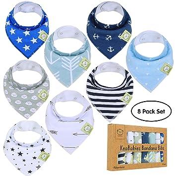 abec8af17ab0 Amazon.com  Baby Bandana Drool Bibs for Boys by KeaBabies - Super ...