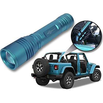 Jeep Wrangler Accessories Bikini Colored LED Flashlight with Roll Bar Holster. Holster fits Jeep Jk rollbar also. Color match is for 2020-2020 Jeep JL Accessories, Ultra Bright, 1000 Lumens, Zoomable.: Automotive