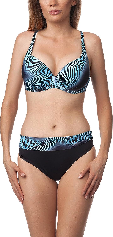 TALLA EU(70E/36)=ES(85E/38). Antie Bikini Trajes de Baño Conjunto Tops y Bragas Mujer 81L2D4N31 S