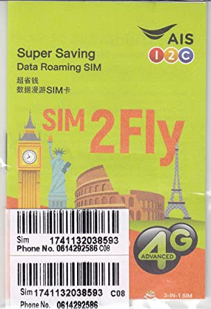 AIS SIM2FLY 4GB / 15 Days Non-Stop Roaming SIM To Use In Europe, Asia, Middle East, USA, Canada As Well As Russia - Ideal SIM Card For The FIFA World ...