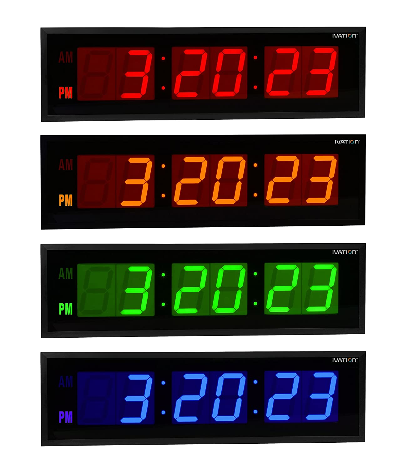 Amazon dbtech 0136red huge large big 36 inch oversized amazon dbtech 0136red huge large big 36 inch oversized digital led clock red home kitchen amipublicfo Images