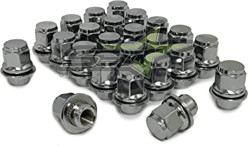 Compatible with Many 5-Lug Lexus Scion Toyota Mitsubishi Vehicles Cars StanceMagic 21mm or 13//16 Hex 1.5 Length 20pcs Black 12x1.5 Mag Style Lug Nuts
