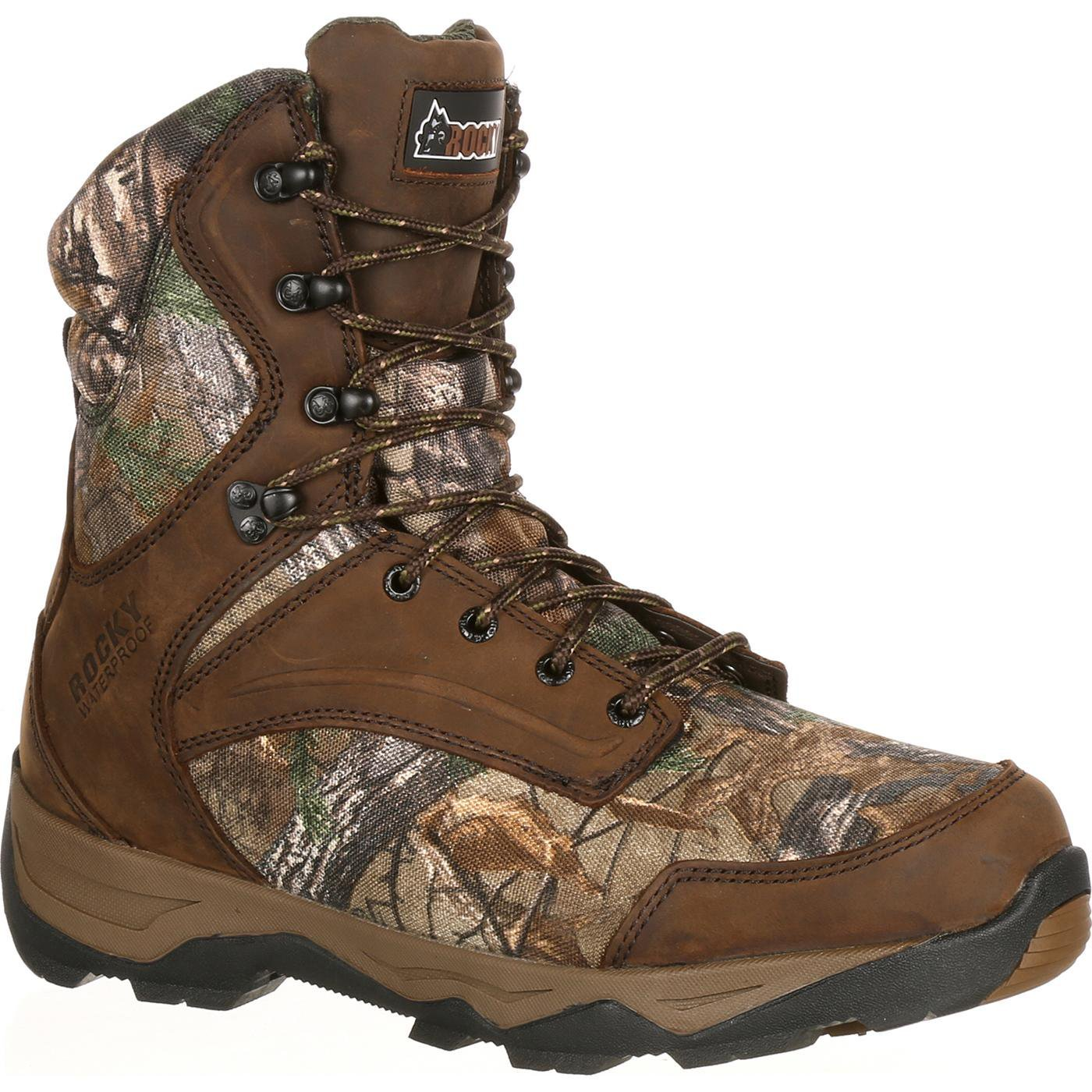 ROCKY Men's 8'' Retraction 800g-M, Realtree Xtra, 12 W US by ROCKY