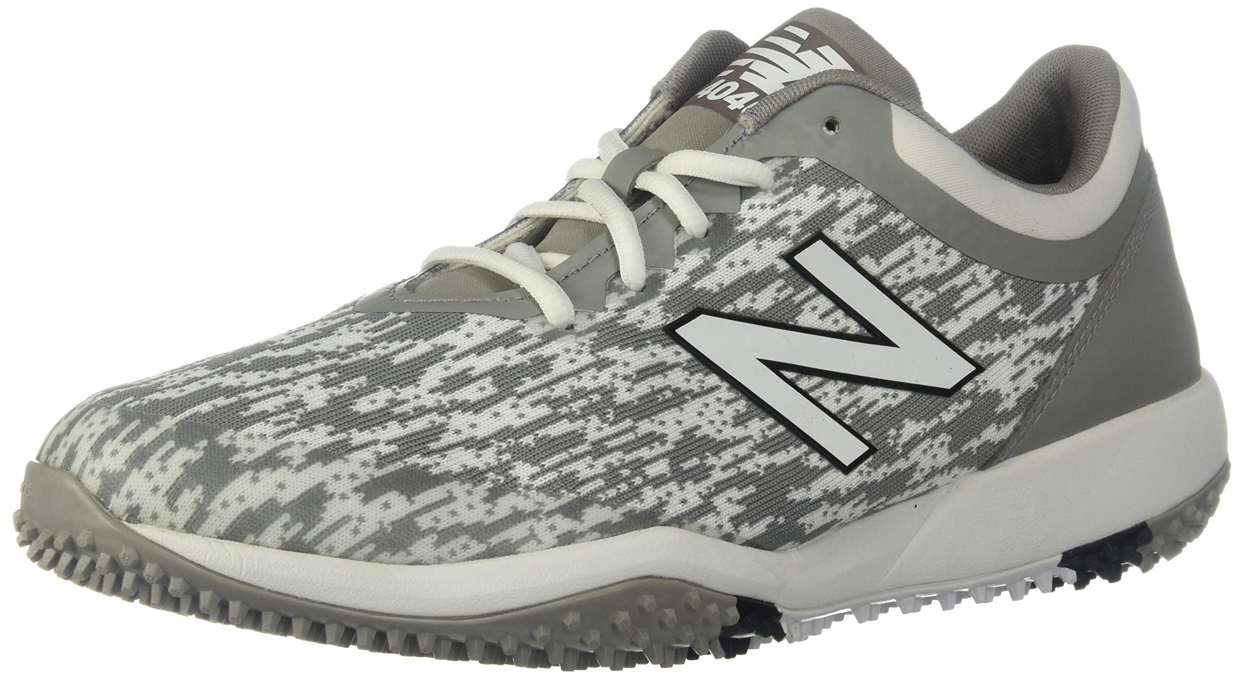 New Balance Men's 4040v5 Turf Running Shoe, Grey/White, 5 D US