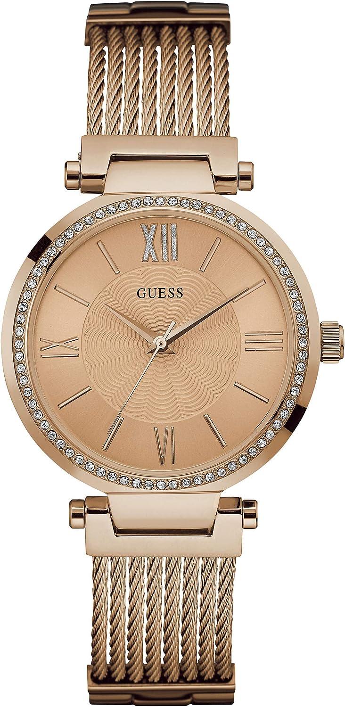 Reloj analógico para mujer Guess Soho con correa de acero inoxidable