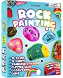 Rock Painting Kit for Kids - Arts and Crafts for Girls & Boys Ages 6-12 - Craft Kits Art Set - Supplies for Painting Rocks - Best Tween Paint Gift, Ideas for Kids Activities Age 4 5 6 7 8 9 10