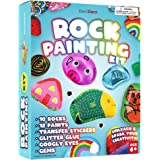 Rock Painting Kit for Kids - Arts and Crafts for Girls & Boys Ages 6-12 - Craft Kits Art Set - Supplies for Painting Rocks -