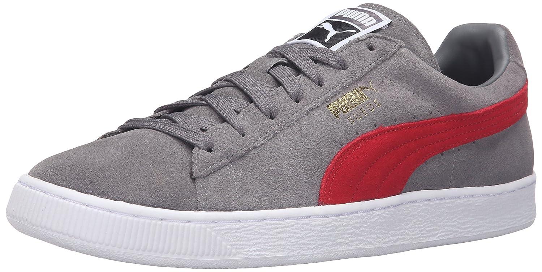 Puma Suede Classic+  Herren High Top Sneaker Steel Gray/Barbados Cherry