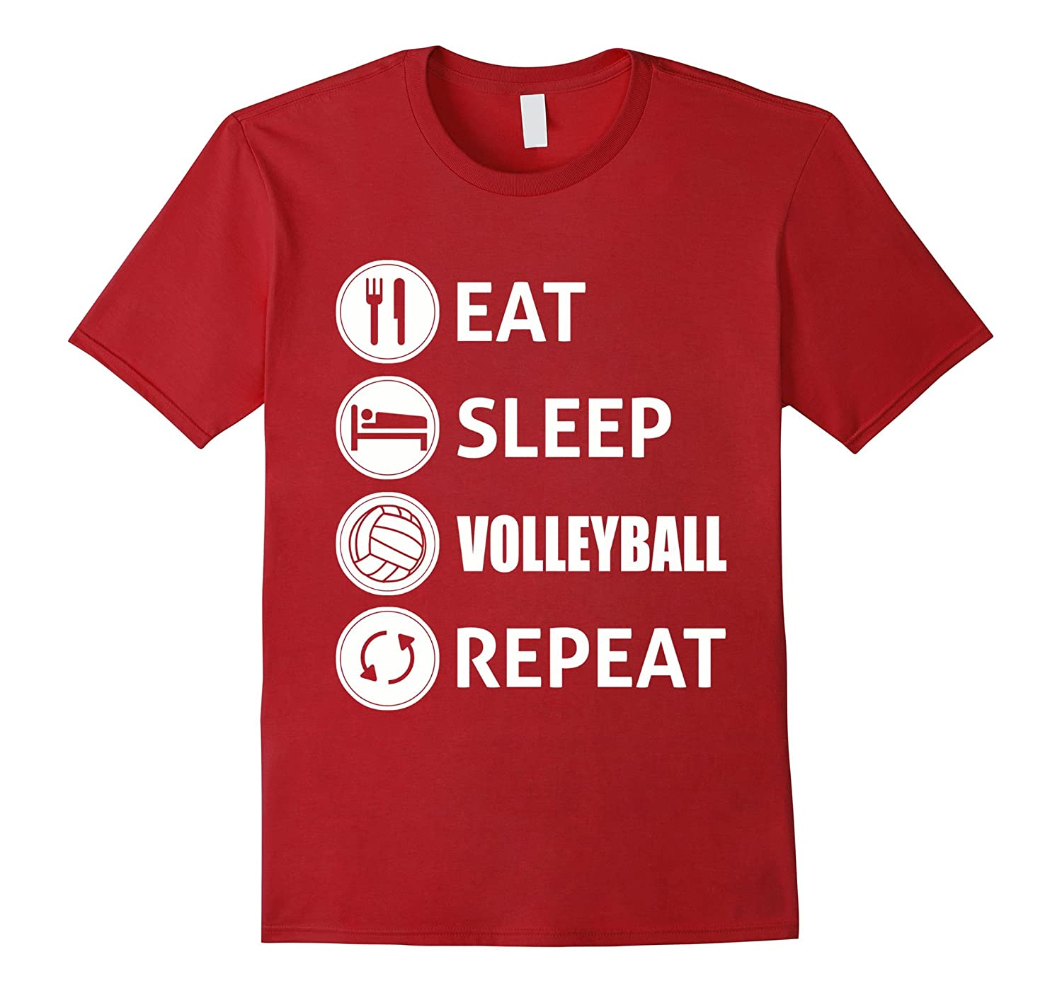 Awesome Eat Sleep Volleyball Repeat T-shirt-TH
