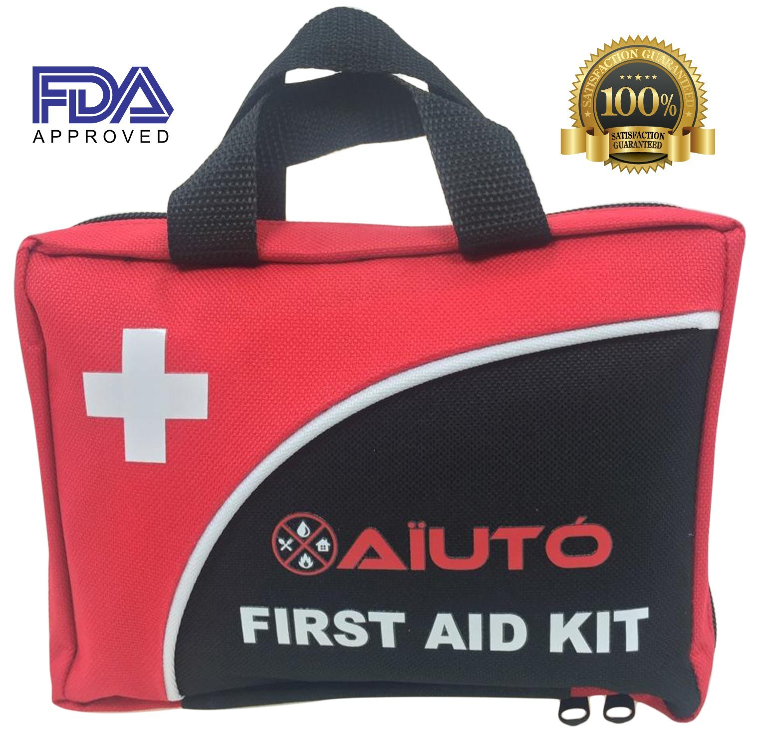 2-in-1 First Aid Kit (120 Piece) + Bonus 32-Piece Mini First Aid Kit: Compact, Lightweight for Emergencies at Home, Outdoors, Car, Camping, Workplace, Hiking & Survival. by Aïutó