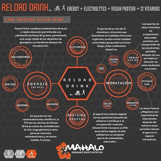 MAHALO RELOAD DRINK 450 g. Bebida recuperadora (Recovery) con ...