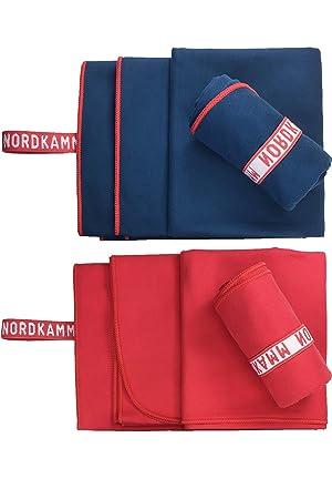 NORDKAMM – Toalla de microfibra, ultraligera, secado rápido y absorbente. Toalla pequeña 50x100