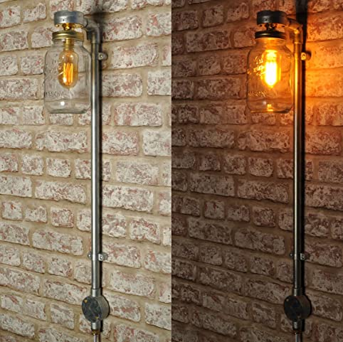 the coppin wall light new industrial style kilner jar vintage retro lighting sconce works with led
