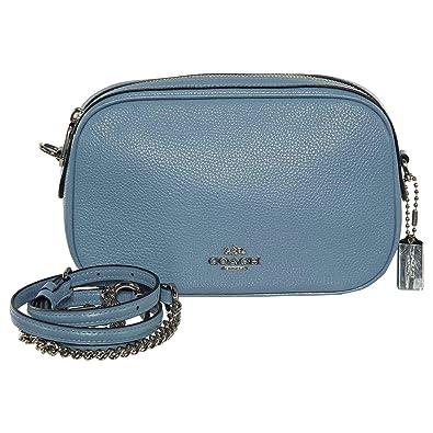 9f04f4f3ea48 Coach Womens Handbag, Pebbled Leather, Isla Crossbody Bag with Chain,  F25922 (Pool Blue): Handbags: Amazon.com
