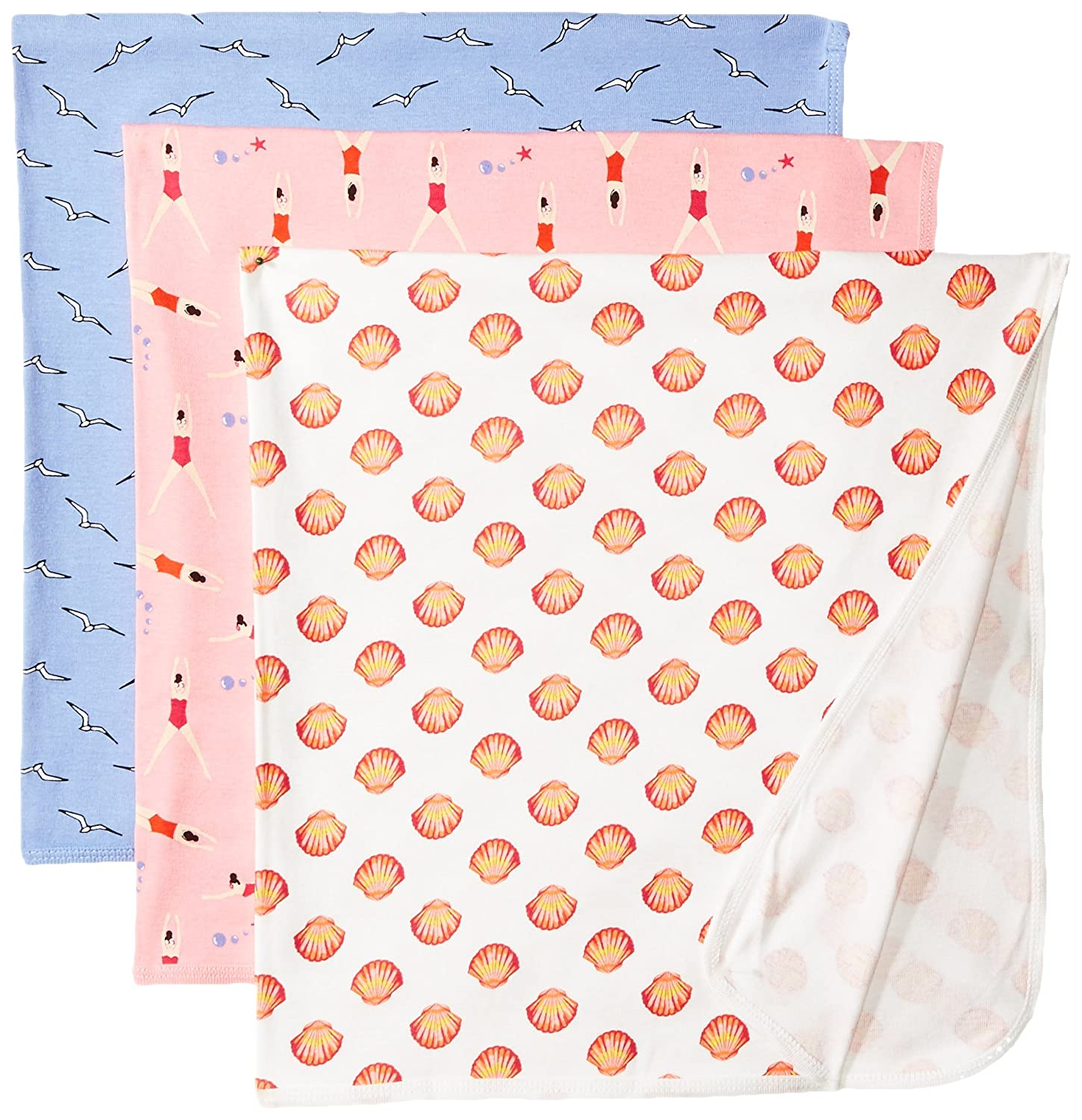 Rosie Pope Baby Girls' 3 Pack Blankets Pink One Size Rosie Pope (Bon Bebe) Children's Apparel RPB104NG-F6WHT