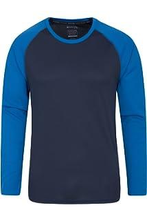 Mountain Warehouse Camiseta Endurance para Hombre - Manga Larga, Camiseta de Secado rápido, Camiseta