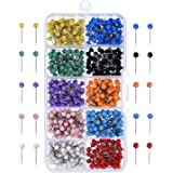 Outus Map Tacks Push Pins Plastic Head with Steel Point, 1/ 8 Inch, 500 Pieces