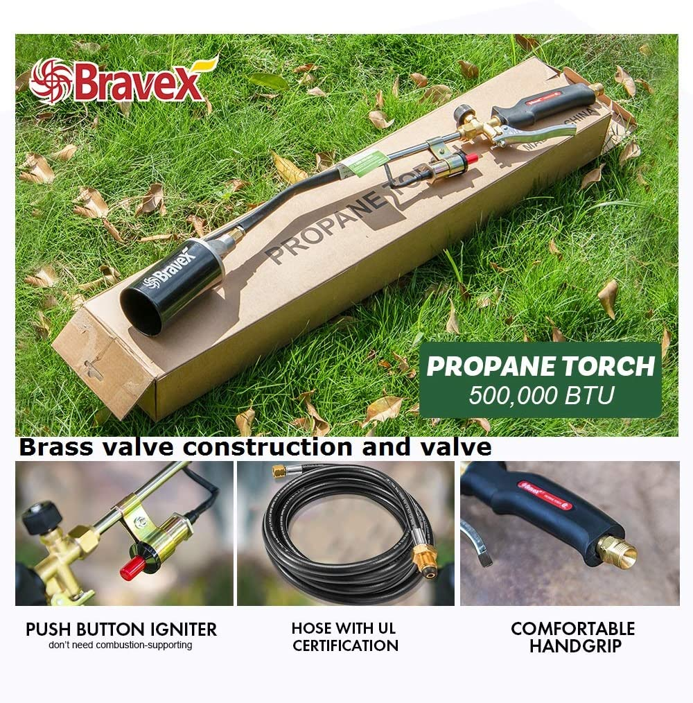 Propane Torch Wand Push Button Igniter for Ice Snow Melter Weed Burner Kits