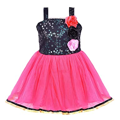 c59ca60a1 Wish Karo Baby Girls Party Wear Frock Dress DN (fr913): Amazon.in ...