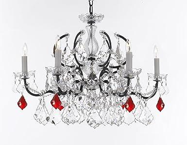 Swarovski crystal trimmed chandelier 19th c rococo iron crystal swarovski crystal trimmed chandelier 19th c rococo iron crystal chandelier lighting dressed aloadofball Images