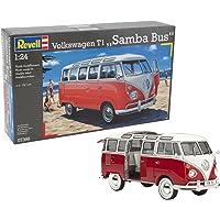 Revell- VW T1 Samba Bus Maqueta Coche, Multicolor